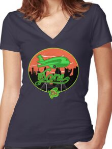Plane Jane Women's Fitted V-Neck T-Shirt