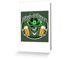 Leprechaun Skull 2: Shenanigans 2 Greeting Card