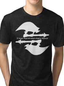 Scythe (x2) - Buffy - Julienne Preacher White Tri-blend T-Shirt