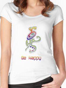 Happy Alien Women's Fitted Scoop T-Shirt
