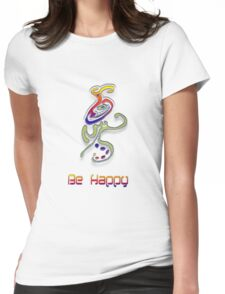 Happy Alien Womens Fitted T-Shirt