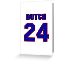 Basketball player Butch Carter jersey 24 Greeting Card