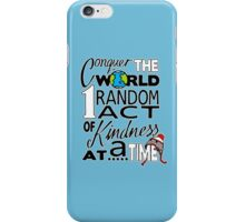 Acts of Kindness (white outline) iPhone Case/Skin