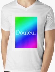 RAINBOW DOULEUR - WHITE Mens V-Neck T-Shirt
