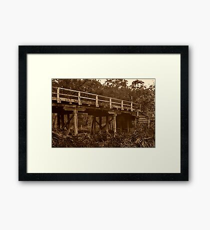 """""""Spanning Time and Sutherland's Creek"""" Framed Print"""