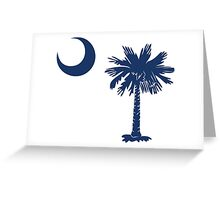 Blue Palmetto Moon Greeting Card