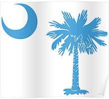 Carolina Blue Palmetto Moon Poster