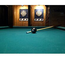 A game of pool  Photographic Print