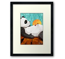 Shock Absorbing Panda Framed Print