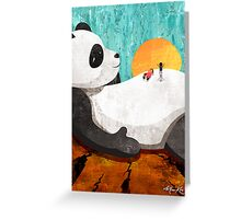 Shock Absorbing Panda Greeting Card