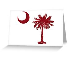 Garnet Palmetto Moon Greeting Card