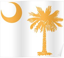 Gold Palmetto Moon Poster