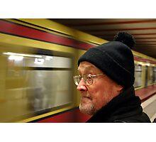Train Passes Slowly Photographic Print