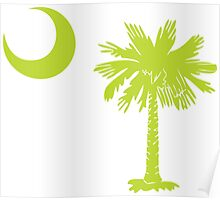 Key Lime Green Palmetto Moon Poster
