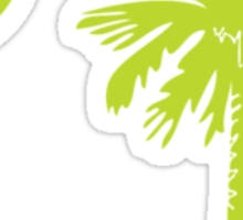 Key Lime Green Palmetto Moon Sticker
