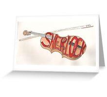 Sherlock Holmes' Violin Greeting Card