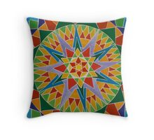 Rainbow Burst Throw Pillow