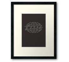 Warp Records logo (grey) Framed Print