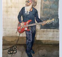 Street Performer art print by Keith Henry Brown