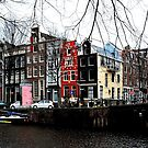 A colourful Amsterdam streetcorner by jchanders