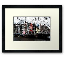 A colourful Amsterdam streetcorner Framed Print