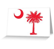 Red Palmetto Moon Greeting Card