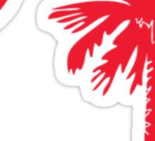 Red Palmetto Moon Sticker
