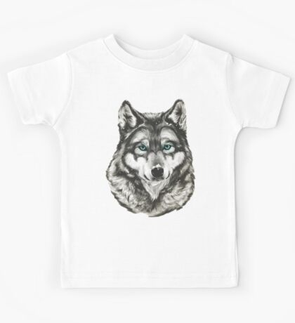 Wolf In The Snow Kids Tee