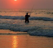 #411   Surf Fishing At Sunrise by MyInnereyeMike