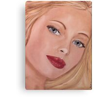 Blue eyed Girl Canvas Print
