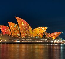 Opera House in the Colours of the Outback by Erik Schlogl