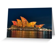 Opera House in the Colours of the Outback Greeting Card
