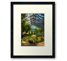 Paradise under glass Framed Print
