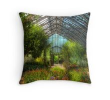 Paradise under glass Throw Pillow