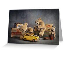 "Still Life #37 -  "" Automotive Bears "" Greeting Card"
