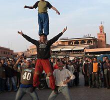 Djemaa el-Fna Acrobats, Marrakech by Mike McSweeney