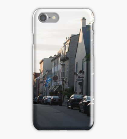 Settng Sun On The Streets Of Old Quebec iPhone Case/Skin