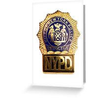 NYPD Detective Badge Greeting Card