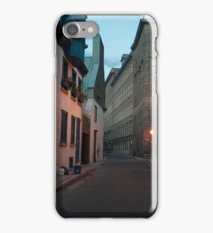 Streets Of Old Quebec At Dusk  iPhone Case/Skin