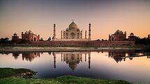 Taj over water.  by DaveBassett