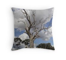 Cloudy Leaves Throw Pillow