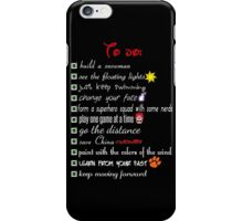 To Do List - Disney Style iPhone Case/Skin
