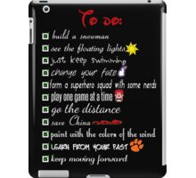 To Do List - Disney Style iPad Case/Skin