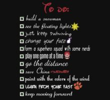 To Do List - Disney Style by Fix-it-Fran