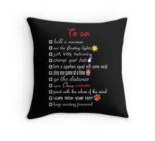 To Do List - Disney Style Throw Pillow