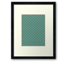 Scales pattern, Japanese inspired Framed Print