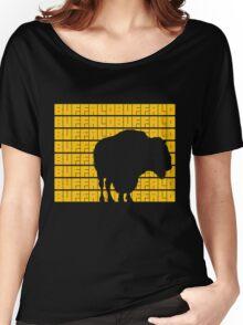 Buffalo buffalo Buffalo buffalo buffalo buffalo Buffalo buffalo. (Yellow) Women's Relaxed Fit T-Shirt