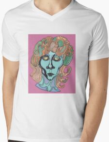 Jim Morrison Portrait Mens V-Neck T-Shirt