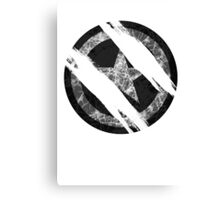 the shield destroyed Canvas Print