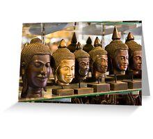 Buddhas (Siem Reap, Cambodia) Greeting Card